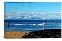 Snow on Arran Hills, Canvas Print