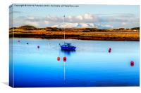 Irvine Harbour & Arran View, Canvas Print