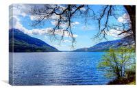 Loch Lomond Side, Canvas Print