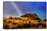 Rainbow Over Loudon Hill, Canvas Print