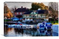 Boats on River Avon, Canvas Print