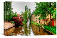 Brugge Canal, Canvas Print