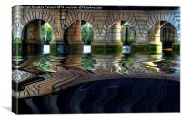 Under Glasgow Bridge, Canvas Print
