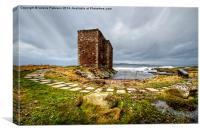 Castle at Portencross, Canvas Print