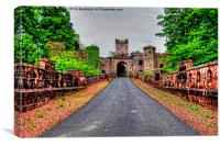 Loudoun Castle Gate, Canvas Print