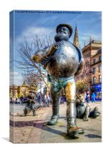 Desperate Dan in Bronze, Canvas Print