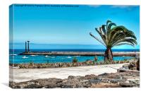 Costa Teguise Harbour, Canvas Print
