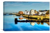 Auld Brig Reflection, Canvas Print