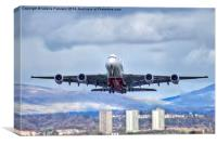 Emirates Take Off, Canvas Print