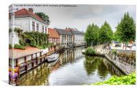 Town Canal, Canvas Print