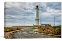 Girdleness Lighthouse Aberdeen, Canvas Print
