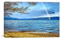 Loch Lomond Rainbow, Canvas Print
