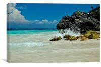 Deserted Beach , Canvas Print