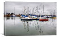 Tayport Harbour , Canvas Print