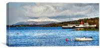 Loch View , Canvas Print