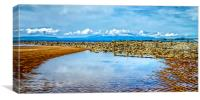 Sea Defence Reflection , Canvas Print