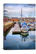 Arbroath Harbour  , Canvas Print