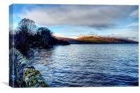Edge of the Loch , Canvas Print