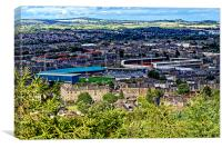 Football Grounds in Dundee, Canvas Print