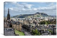 Edinburgh Skyline , Canvas Print