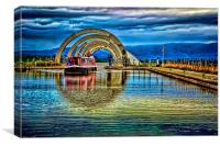 Falkirk Wheel Canal , Canvas Print