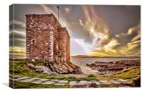 Castle at Portencross , Canvas Print