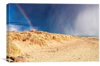 Rainbow on the Beach , Canvas Print