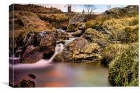Waterfall at Glen Kinglas , Canvas Print