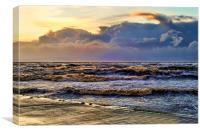Rough Sea in Irvine , Canvas Print