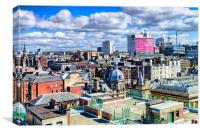 Glasgow Rooftops , Canvas Print