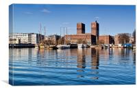 Oslo Harbour, Canvas Print