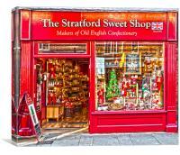 Stratford Sweet Shop , Canvas Print