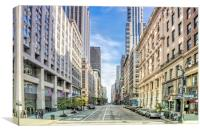 East 36th Street 5th Ave, Canvas Print