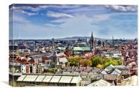 Dublin Rooftops, Canvas Print