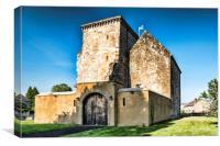 Johnstone Castle , Canvas Print
