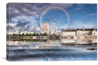 London Eye Across the Thames, Canvas Print