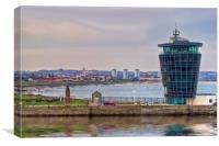 Aberdeen Marine Centre, Canvas Print