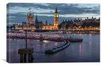 Westminster London, Canvas Print