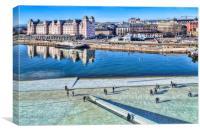 Oslo City View, Canvas Print