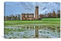 Eglinton Castle Reflection, Canvas Print