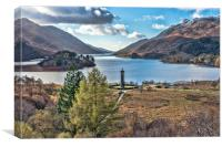 Loch Sheil and Glenfinnan, Canvas Print