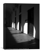 Italian VIla with shade and light, Canvas Print