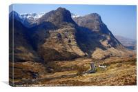 Three Sisters Ridge Glencoe Scotland, Canvas Print