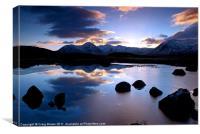 Blackmount sunset Scotland, Canvas Print