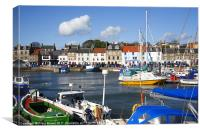 Anstruther harbour Scotland, Canvas Print