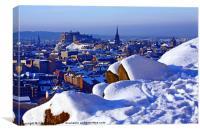 Edinburgh in Winter, Canvas Print