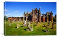 Melrose Abbey Scotland, Canvas Print