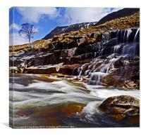 Waterfall, Glen Etive, Canvas Print
