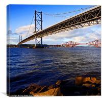 Forth Bridges, Scotland, Canvas Print