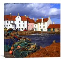 Pittenweem harbour, Fife Scotland, Canvas Print